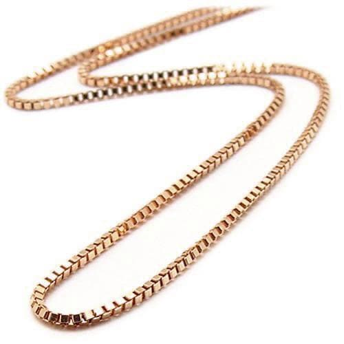"22"" 0.7mm Box Chain in 14K Rose Gold-[SKU]"
