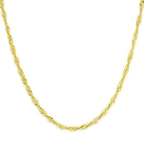"20"" 1.5MM Singapore Chain in 14K Yellow Gold"