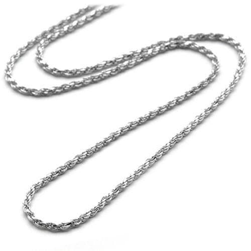 "16""1.5MM Rope Chain in 14K White Gold"