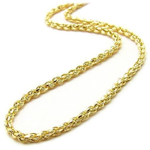 "16"" 1.0MM Rope Chain in 14K Yellow Gold"