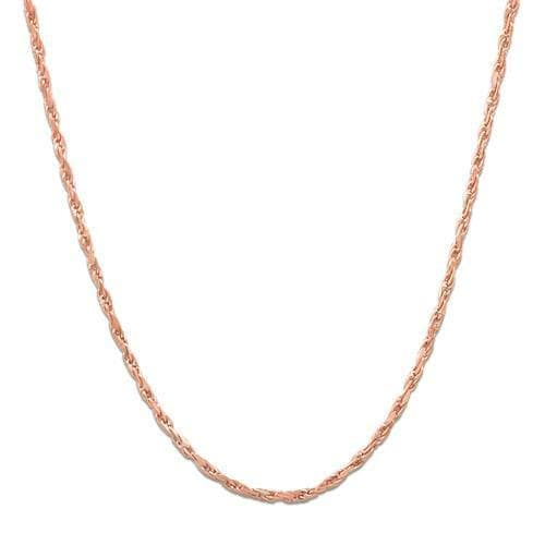 "18"" 1.0MM Rope Chain in 14K Rose Gold"