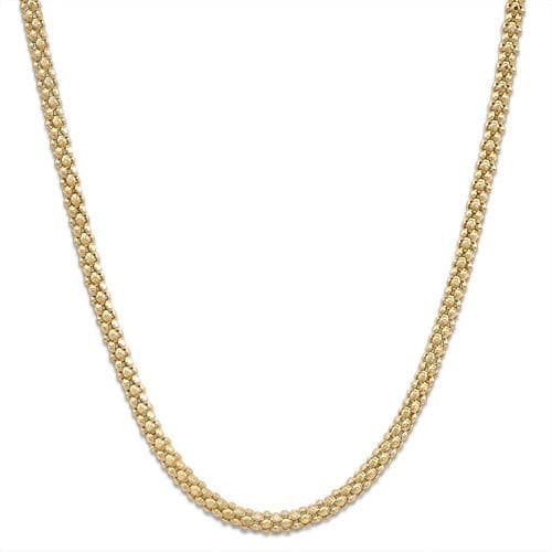 "18"" 1.6MM Popcorn Chain in 14K Yellow Gold"