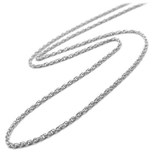 "16"" Baby Rope Chain in 14K White Gold"
