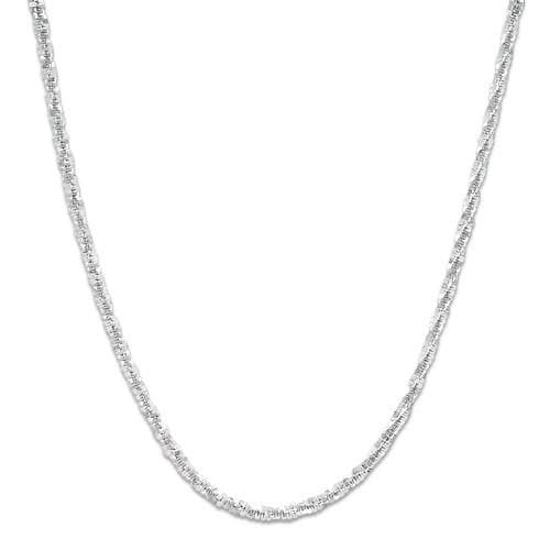 "16"" 1.0MM Margarita Chain in 14K White Gold"