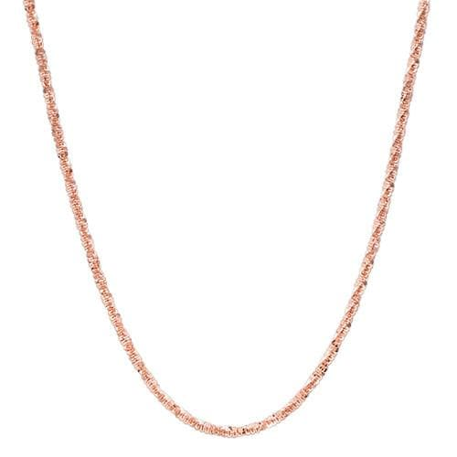 "16"" 1.0MM Margarita Chain in 14K Rose Gold"