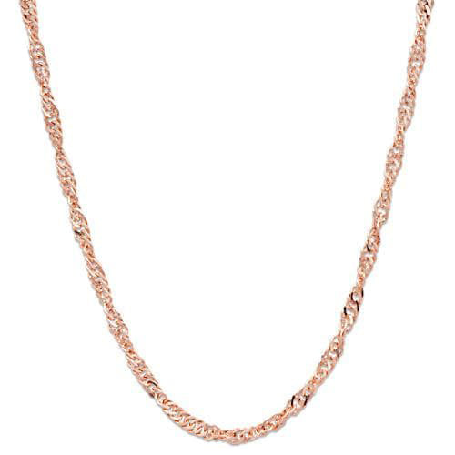 "16"" 1.5MM Singapore Chain in 14K Rose Gold"