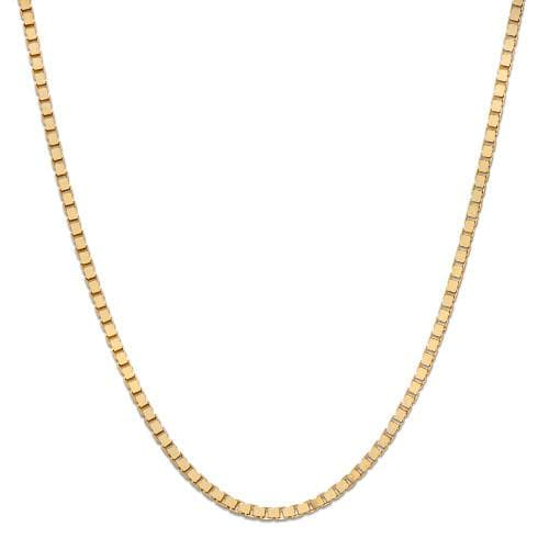 "18"" 1.0mm Box Chain in 14K Yellow Gold"