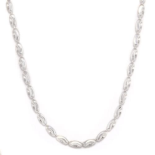 "16"" Ovalina Chain In 14K White Gold - Maui Divers Jewelry"