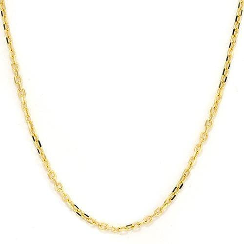 "24"" 1MM Adjustable Cable Chain in 14K Yellow Gold 036-13375"