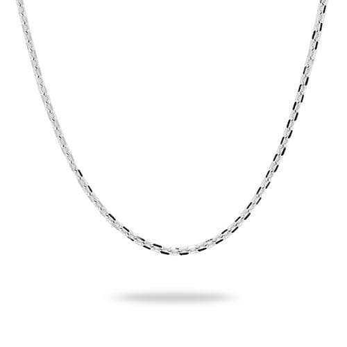 "16-22"" Adjustable Cable Chain in 14K White Gold - 1mm"