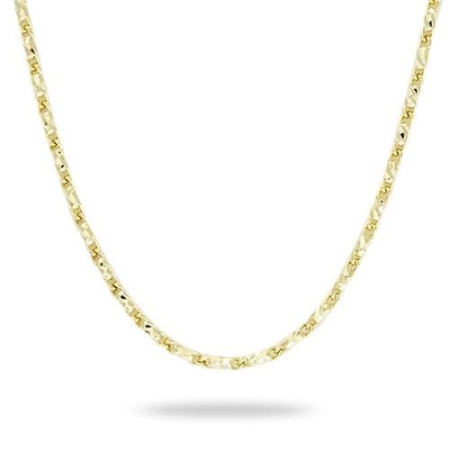 "24"" .9MM Adjustable Raso Chain in 14K Yellow Gold 036-13377"