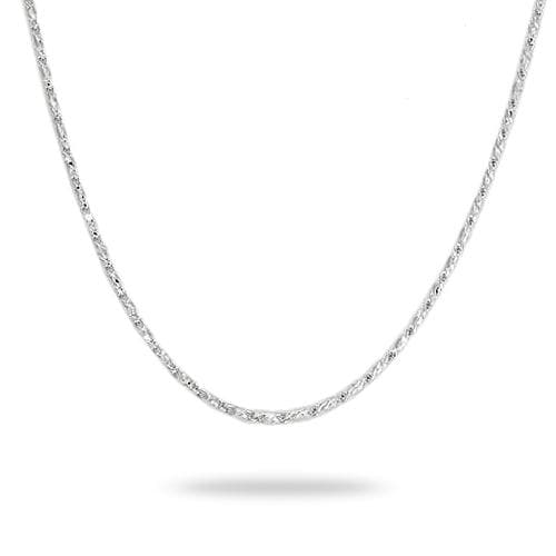 "24"" (0.9mm) Raso Chain in 14k White Gold-036-13378"
