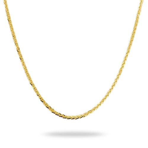 "24"" 1.4mm Espiga Adjustable Chain in 14K Yellow Gold-[SKU]"