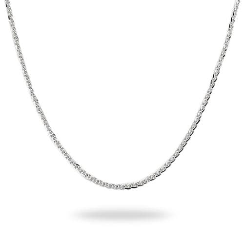 "24"" (1.4mm) Espiga Chain in 14k White Gold-036-13380"