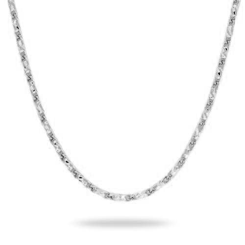 "18"" 1.4mm Raso Chain in 14K White Gold - Maui Divers Jewelry"