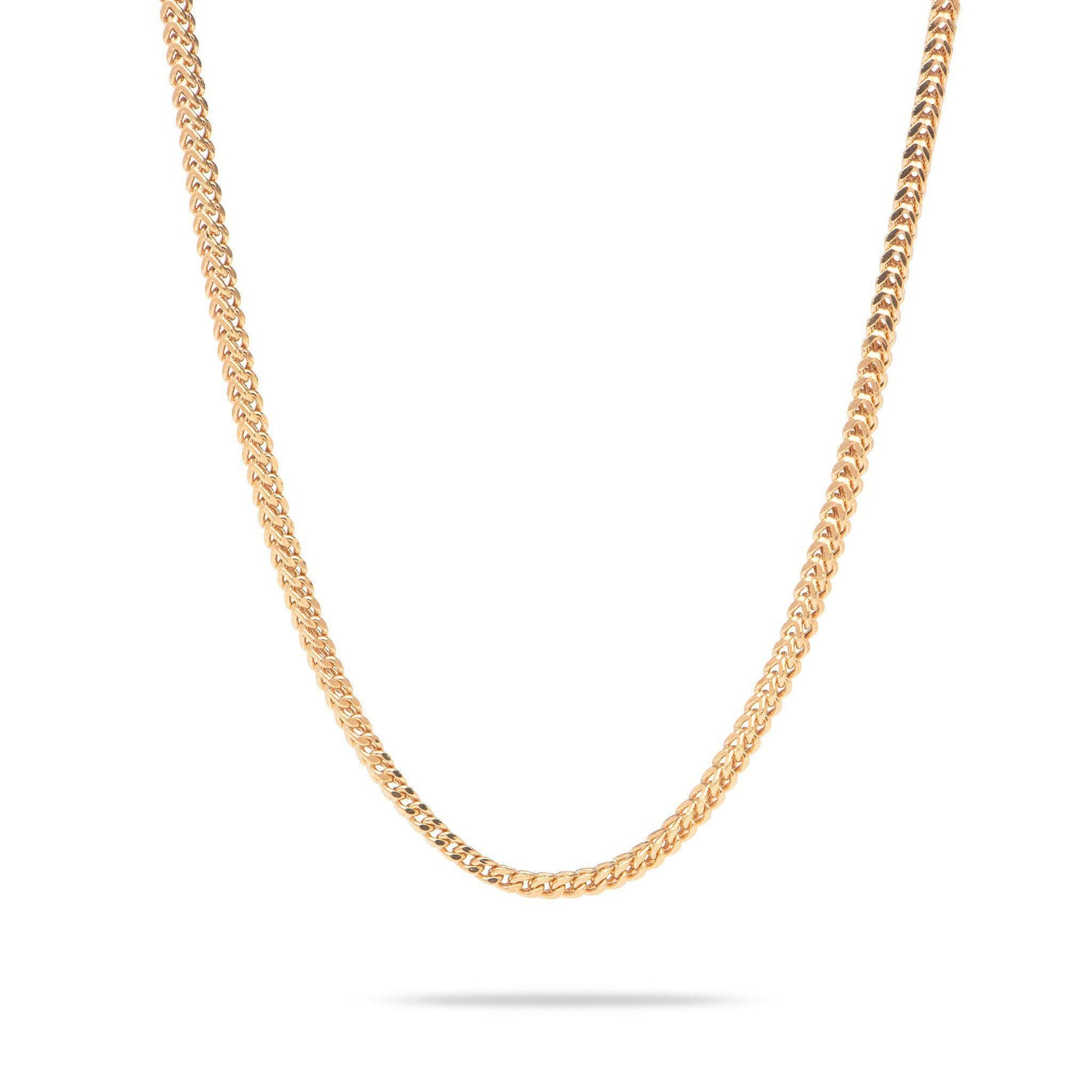 "20"" 2.5mm Hollow Franco Chain in 14K Rose Gold-[SKU]"