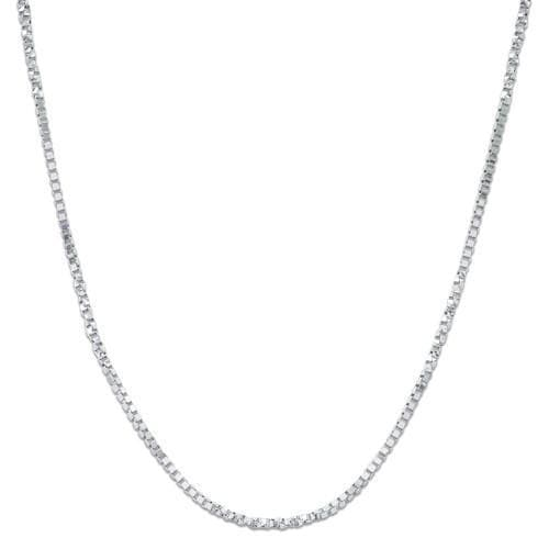 "16"" 0.5MM Twisted Box Chain in 14K White Gold"