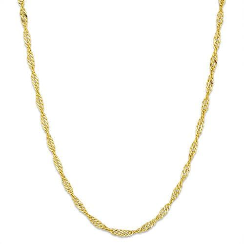 "16"" 1.0MM Singapore Chain in 14K Yellow Gold"