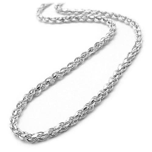 "18"" 2MM Rope Chain in 14K White Gold"