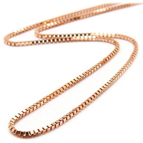 "16"" 0.6MM Box Chain in 14K Rose Gold"