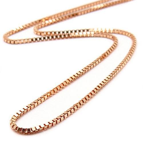 "16"" 0.8MM Box Chain in 14K Rose Gold"