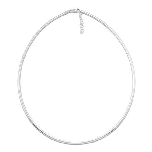 "16-17"" Adjustable 2.5MM Omega in 14K White Gold"