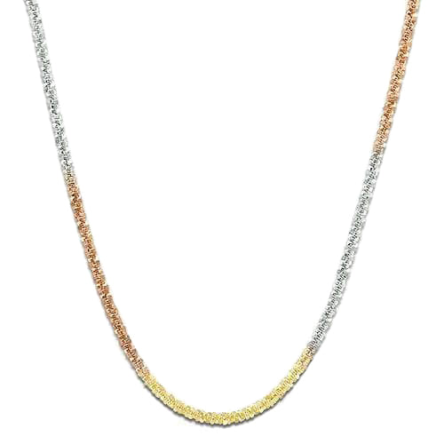 "16"" 1.0MM Margarita Chain in 14K Tri-color Gold"