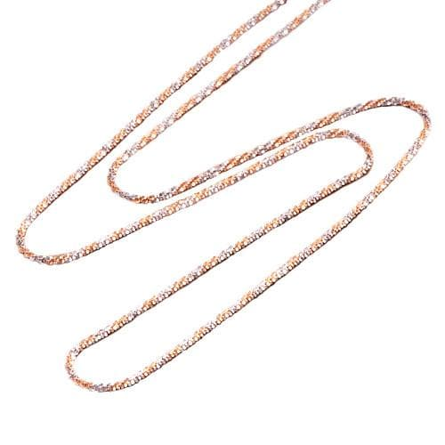 "16"" 1.0MM Sparkle Chain in 14K Two-Tone Gold"
