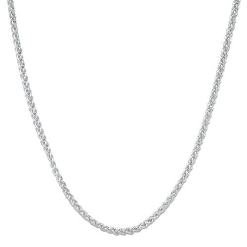 "16-22"" Adjustable Wheat Chain in 14K White Gold"