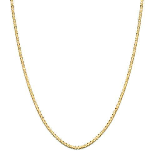 "22"" Adjustable 0.85MM Box Chain in 14K Yellow Gold"