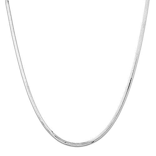 "16-22"" Adjacent Snake Chain in 14k White Gold-036-40204"