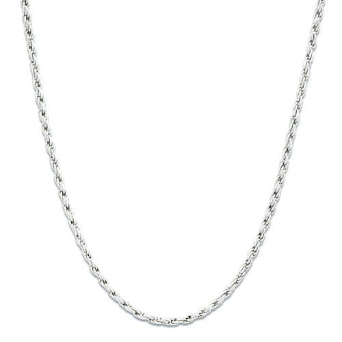 "16""-22"" Adjustable 1MM Rope Chain in 14K White Gold"