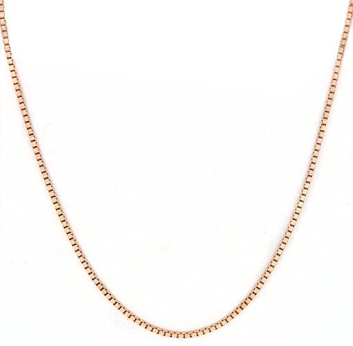 "22"" 0.7MM Box Chain in 14K Rose Gold"