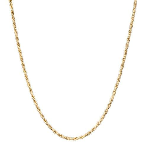 "16-22"" Adjustable 1.0MM Rope Chain in 14K Yellow Gold"