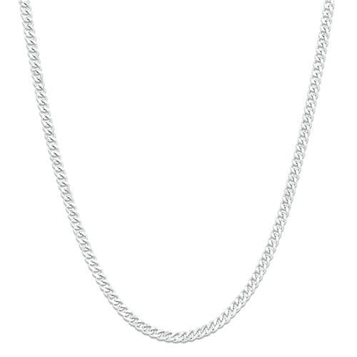 "18"" 1.5MM Gourmette Chain in 14K White Gold"