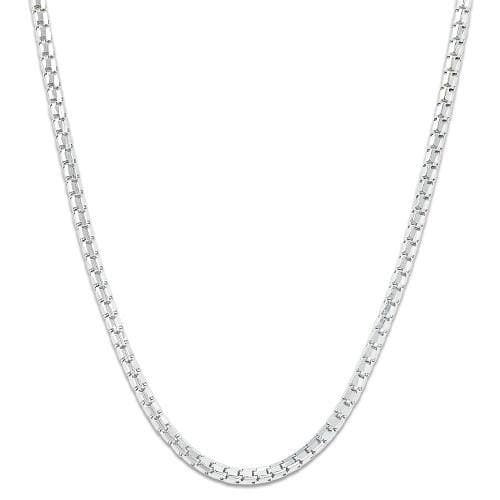 "18"" 1.3MM Ice Cube Chain in 14K White Gold"