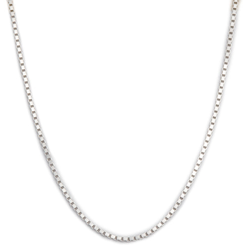 "16"" 1.0mm Box Chain in Sterling Silver - Maui Divers Jewelry"
