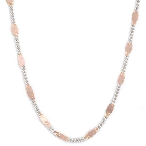 "16"" ""Two-Tone Link"" Chain in Sterling Silver"