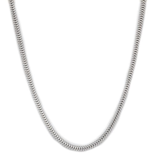 "18"" 1.4mm ""Snake"" Chain in Sterling Silver"