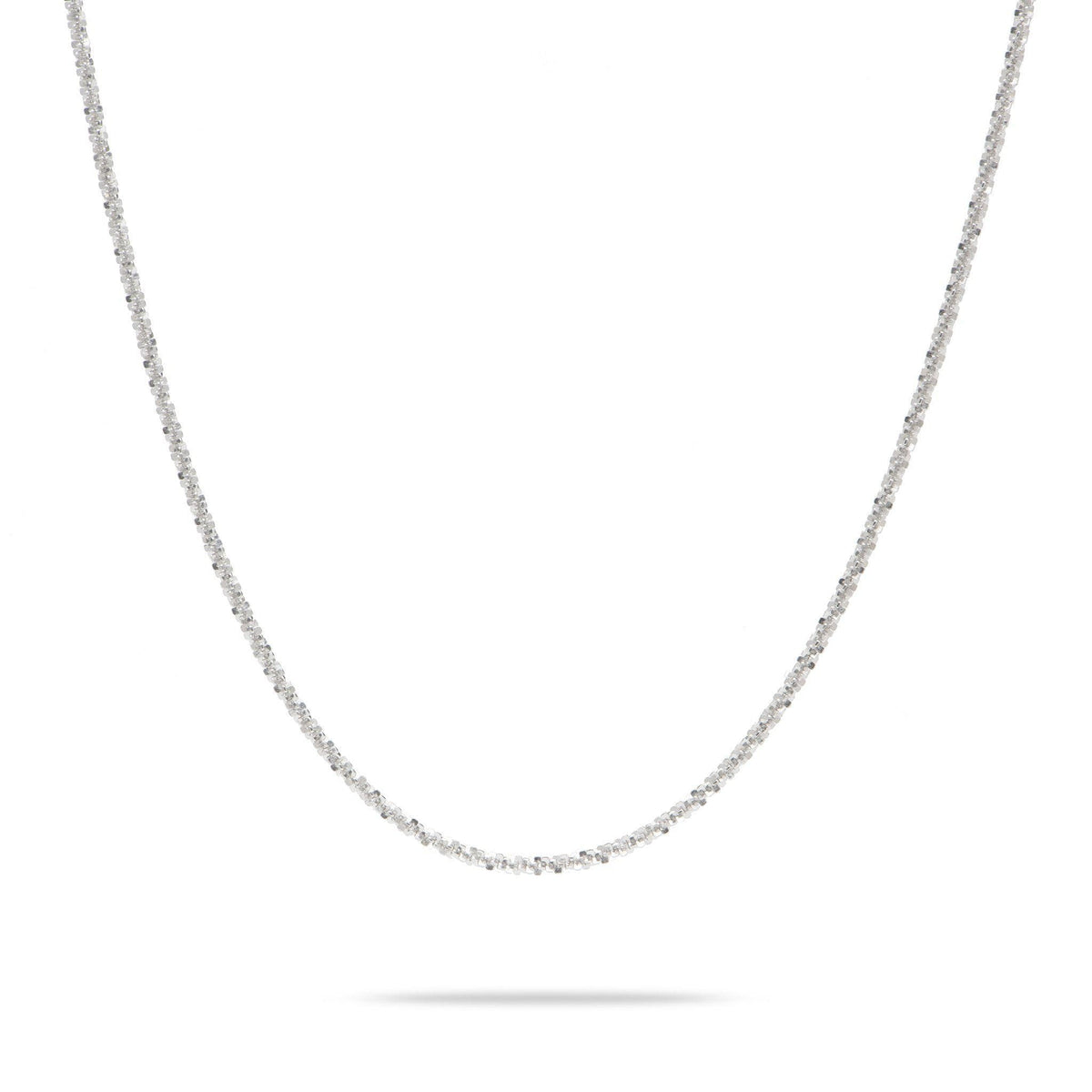 "Sterling Silver Adjustable Margarita Chain in 24"" 1.5mm-[SKU]"