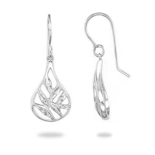 Maile Drop Earrings in Sterling Silver