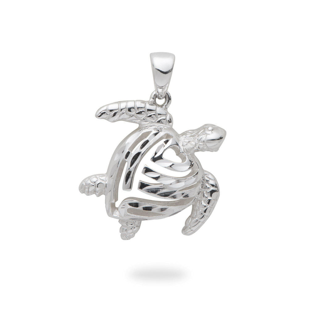 Honu Pendant in Sterling Silver - 19mm-[SKU]