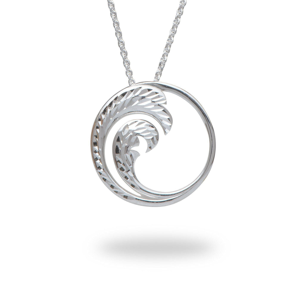Nalu Pendant in Sterling Silver - 24mm