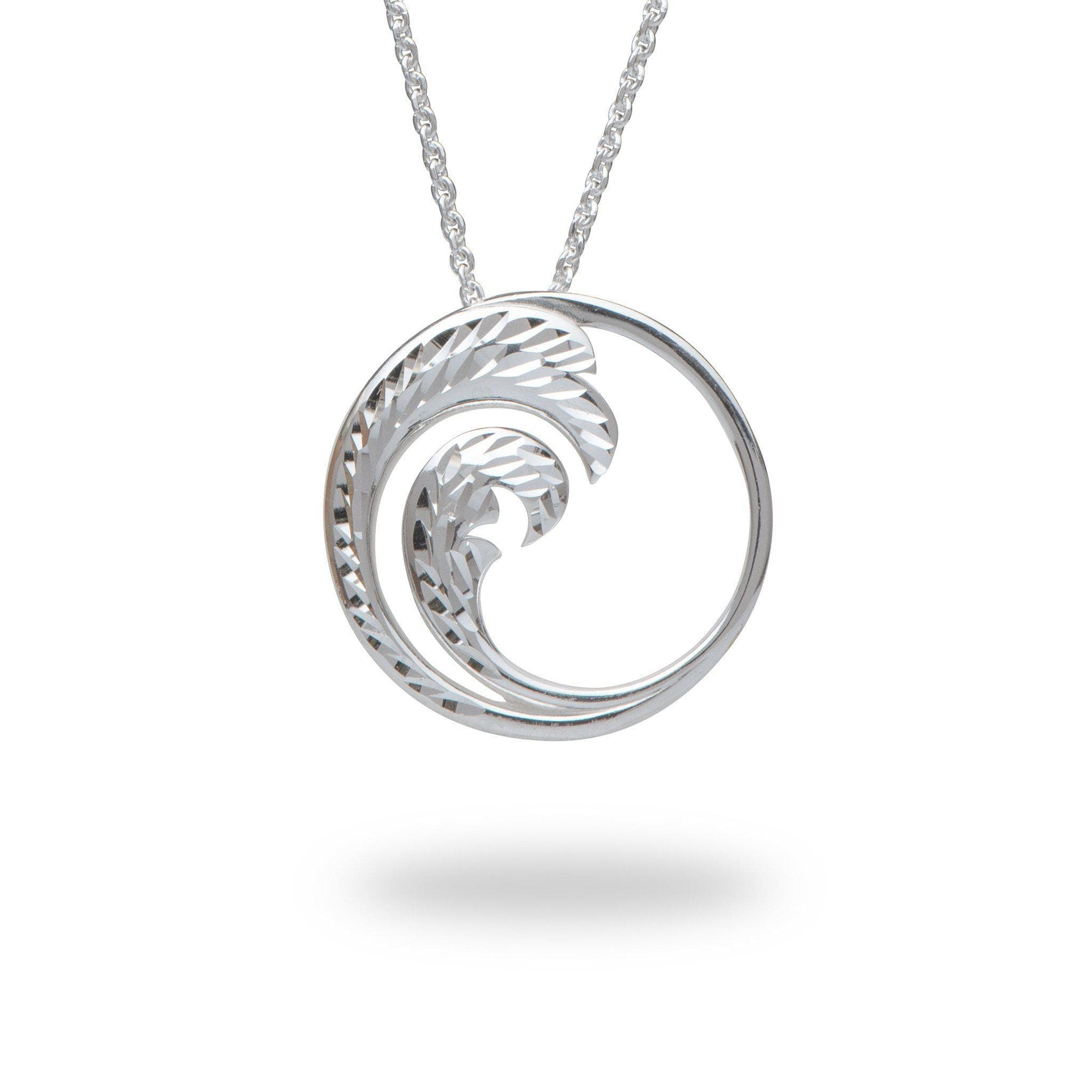Nalu Pendant in Sterling Silver - 24mm-[SKU]