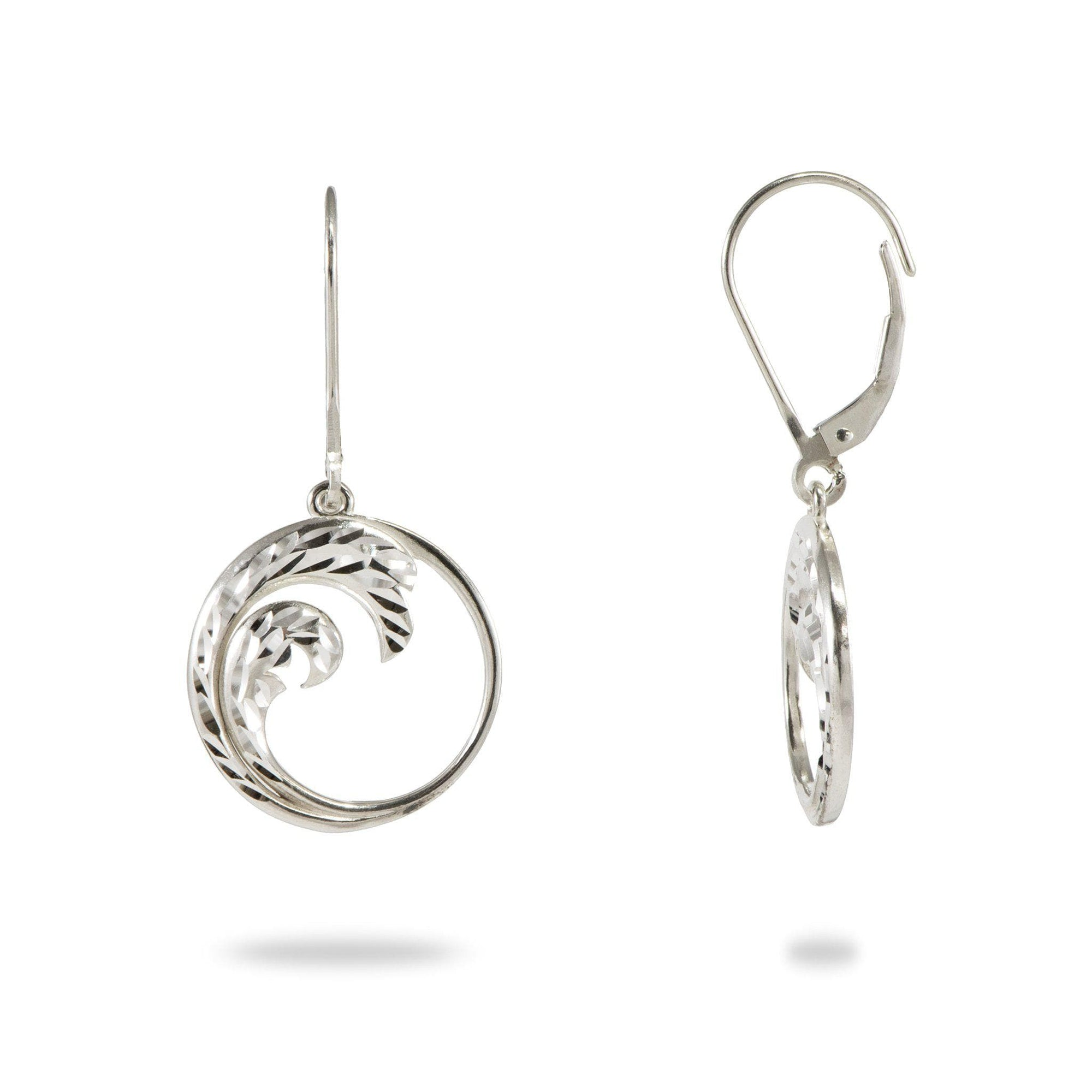 Nalu Earrings in Sterling Silver - 37mm-[SKU]