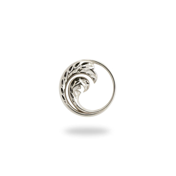 Nalu Pendant in Sterling Silver - 18mm - Maui Divers Jewelry