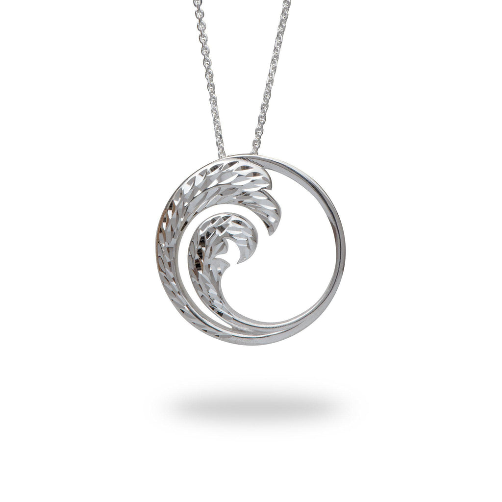 Nalu Pendant in Sterling Silver - 30mm