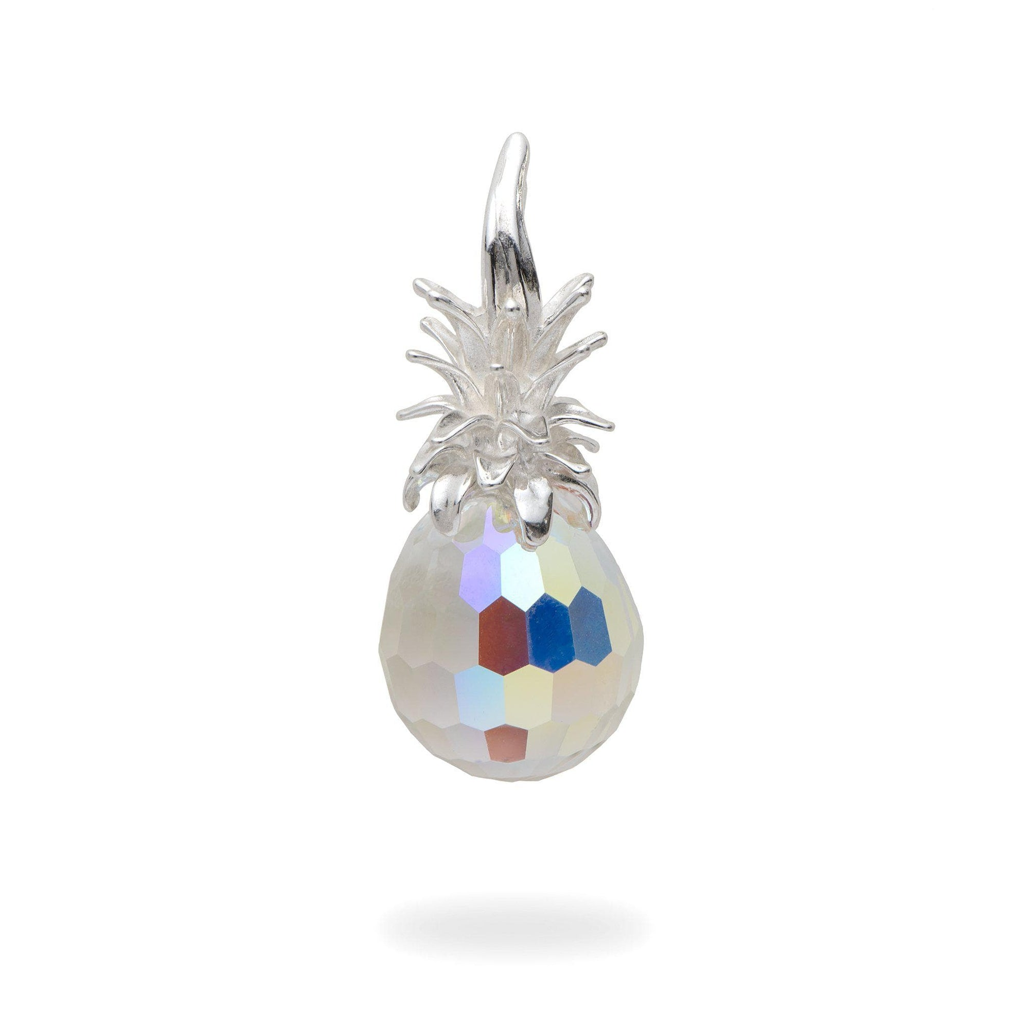 Pineapple Crystal Pendant in Sterling Silver-[SKU]