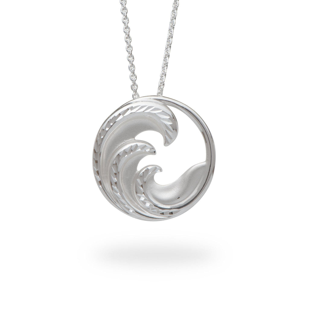 Nalu Pendant Sterling Silver - 24mm-[SKU]