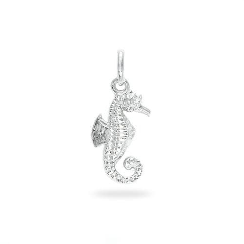 Sterling silver charms for bracelets necklaces seahorse charmpendant in sterling silver 17mm aloadofball Image collections